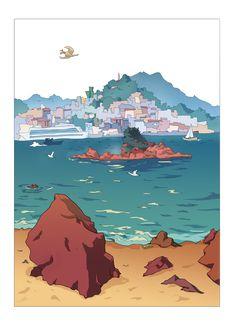 Illustration done on location in Vigo (spain) Carlos Castro ©2017