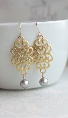 Gorgeous! These would be a great gift for bridesmaids to where for the wedding! #wedding #gift #bridesmaids #jewelry