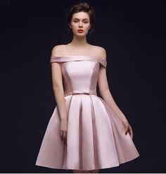 SP7292-ชุดราตรี เดรสออกงาน ผ้าไหมอิตาลี (สีชมพู)