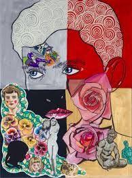 sam mitchell artist - Google Search Sam Mitchell, Pop Art Artists, Eye Candy, Disney Characters, Fictional Characters, Kiwi, Grid, Portraits, Painting