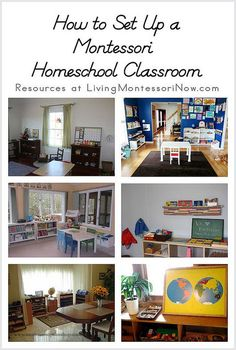 How to set up a Montessori homeschool classroom.