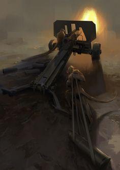 artillery of banana republic, Michal Lisowski on ArtStation at https://www.artstation.com/artwork/4kvo4