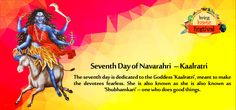 Seventh day of #Navarathri  - Goddess #Kaalratri   The seventh day is dedicated to the Goddess 'Kaalratri', meant to make the devotees fearless.  Know more about goddess Kaalratri in the blog