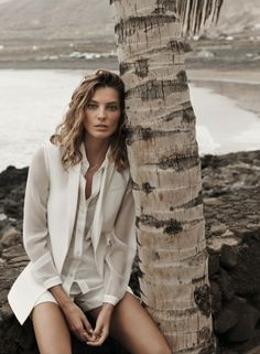 because im addicted Daria Werbowy for Mango's Spring 2014
