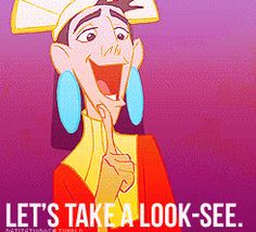 Tumblr | via Tumblr | We Heart It. Kuzco judging the disney princess's. funny b