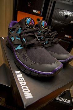 "Nike ID Free Run+ 2 - Air Jordan 8 ""Aqua""-inspired colorway.     / The mind of a creative /"