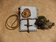 Native Inspired, Turtle Totem Medicine Bag Neck Pouch by LittleCanaryandCo on Etsy