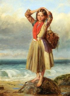 Thomas Kent Pelham (1831 – 1907, English) - The Mussel Gatherer