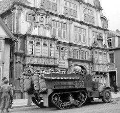 WW2 Photo WWII US Army Half Track on Street Germany 1945 World War Two / 3123   eBay