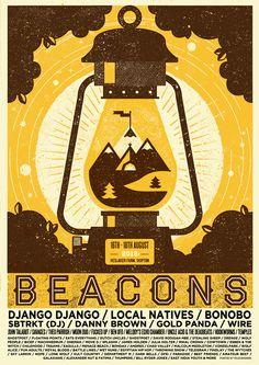 Y con este y otros pósters se inició nuestra serie de posts de diseñadores de música que tanto está gustando. Beacons.