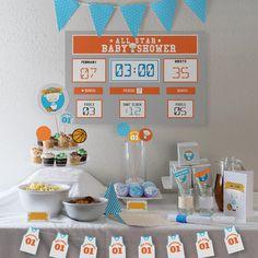 Baloncesto cordero bebé ducha decoraciones / / Kit por PaperConfete