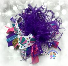 Large Funky Over the Top Hair Bow Funky by BowGrannyBowtique