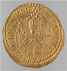 Zlatnik of Vladimir the Great, the ruler of Kievan Rus' from 980 to 1015.