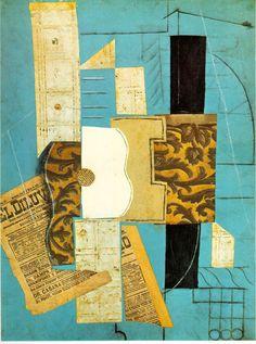 Picasso La guitare. 1913. 66,4x49,6