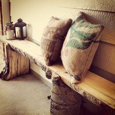 burlap sack pillows