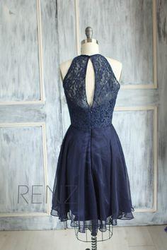 Halter Bridesmaid dress Wedding dress Lace dress by RenzRags