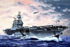 USS Enterprise Aircraft Carrier 1 1200 Revell G Uss Enterprise Cv 6, Navy Aircraft, Military Aircraft, Poder Naval, Uss Nimitz, Go Navy, Naval History, United States Navy, Navy Ships