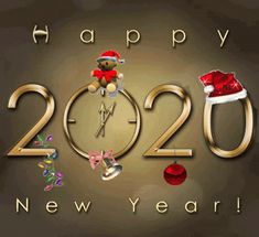 Happy New Year 2020 GIF - HappyNewYear 2020 Sparkle - Discover & Share GIFs