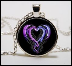 Dragon Heart  Necklace and pendant set -  Valentines Day jewelry -  Dragon Jewelry  - Dragon hearts. $11.99, via Etsy.