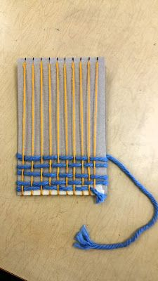 Paintbrush Rocket: 4th Grade ipad Pouch Weaving!