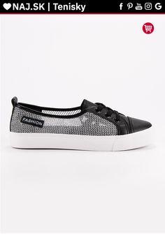 Čierne tenisky so sieťou MCKEYLOR Slip On, Sneakers, Shoes, Fashion, Tennis, Moda, Slippers, Zapatos, Shoes Outlet