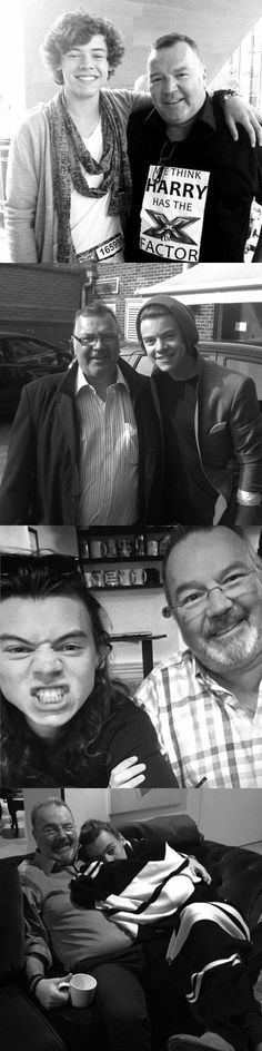 Harry with his Stepfather. Gone but never forgotten❤️