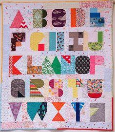I Spy the Alphabet by Terri Carpenter.  2015 Stitch Modern exhibition.  Photo by The Plaid Portico.