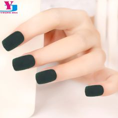 Find More False Nails Information about 24pcs/set New Velvet False Nail Art Tips With Nail Glue Tape Fashion Square Full Cover Fake Artificial Tips Beauty lady Design,High Quality False Nails from YOUNG JILL CO.,LTD on Aliexpress.com