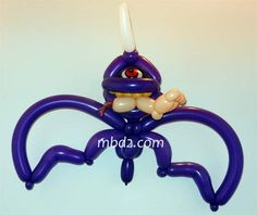purple balloon animal | balloon animals # halloween # monster