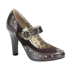 Absolutely LOVE these!!!!  Demonia - Tesla 03 Brown Steampunk Heels
