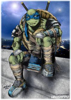 by LanXiang on DeviantArt Ninja Turtles Movie, Teenage Ninja Turtles, Tmnt Wallpaper, Tortugas Ninja Leonardo, Sailor Mars, Sailor Venus, Turtles Forever, Tmnt 2012, Turtle Love