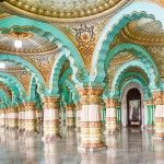 How much it costs to go backpacking in South India - The interior hall of Mysore Palace in Mysore, Karnataka, India - Lost With Purpose