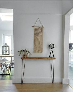 Narrow console table with hairpin legs, wooden rustic hallway table. Narrow console table with hairpin legs wooden rustic hallway Rustic Hallway Table, Rustic Console Tables, Narrow Console Table, Entryway Tables, Rustic Stairs, Rustic Table, Narrow Entry Table, Entryway Console, Rustic Wood