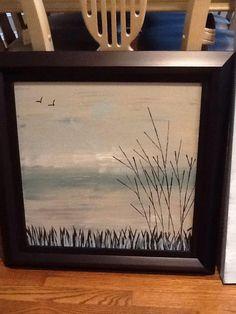 "Abstract Art ""Spring Return"" Acrylic on Canvas 18"" x 18"" $100 (Framed) Website:  www.facebook.com/fayes.art"