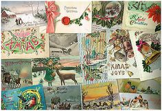 OLD GREETINGS POSTCARDS CHRISTMAS NEW YEAR VINTAGE BULK LOT OF 50 C.1910 - 1930S Jingle All The Way, Christmas And New Year, 1930s, Postcards, Tunic Tops, Joy, Clothes For Women, Vintage, Outerwear Women