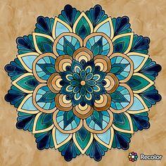 Tierra Mandala Artwork, Mandala Drawing, Mandala Painting, Dot Art Painting, Color Pencil Art, Mandala Pattern, Mosaic Art, Rock Art, Design Art