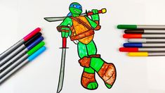 How to Colour Leonardo TMNT - Drawing videos for kids Drawing Videos For Kids, Kids Videos, Leonardo Tmnt, Play Doh, Coloring For Kids, Kids Toys, Eggs, Colour, Drawings