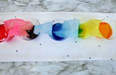 Fun & Easy Rainbow Walking Water Experiment Stem Projects For Kids, Science Projects, Walking Water Experiment, Water Experiments For Kids, Yellow Food Coloring, Yellow Cups, Water Molecule, Small Mason Jars, Kids Writing