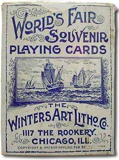 World's Fair Souvenir playing cards, 1892 Creative Typography Design, Lettering Design, Hand Lettering, Calligraphy Letters, Typography Letters, World's Columbian Exposition, Vintage Playing Cards, Vintage Packaging, Branding