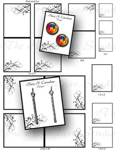 Earring Cards  Jewelry Cards   Necklace Tags by TheHourglassStudio, $20.00
