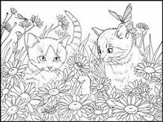 Blank Coloring Pages, Cat Coloring Page, Animal Coloring Pages, Coloring Sheets, Coloring Books, Cat Colors, Christmas Colors, Colorful Pictures, Clip Art