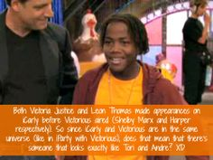 """one of those tumblr Victorious confessions/ Nickelodeon confessions Rofl YES this is EXACTLY what I thought when """"iParty With Victorious"""" aired for the first time... those were good times lol... Now iCarly AND Victorious are over and I'm sad xD"""