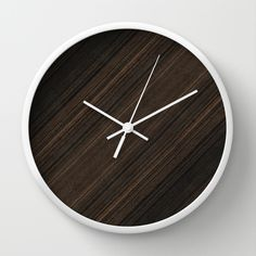 Ebony Macassar Wood Wall Clock
