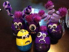Evil Purple Minion Easter Eggs! :) hahaha!