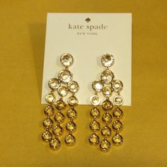Kate Spade NWT droplets earrings Hello! Comes with dust bag as shown kate spade Jewelry Earrings