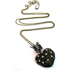 Steam Punk Hollow Heart Necklace | Gothic Clothing | Emo clothing |... ($13) ❤ liked on Polyvore