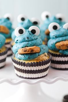 Cookie Monster Cupcakes Photo