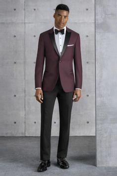 238cc8de63 Kenneth Cole Ultra Slim Burgundy Empire Ultra Slim Fit Tuxedo