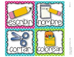 Picture direction icons in Spanish!