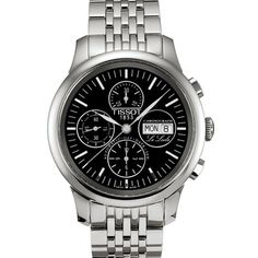 T41.1.387.51 Tissot Le Locle Steel Chronograph Black Automatic Mens Watch Price $850